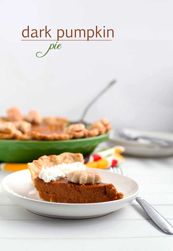 dark pumpkin pie