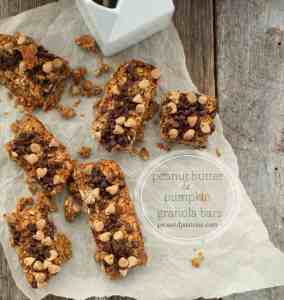 peanut butter and pumpkin granola bars