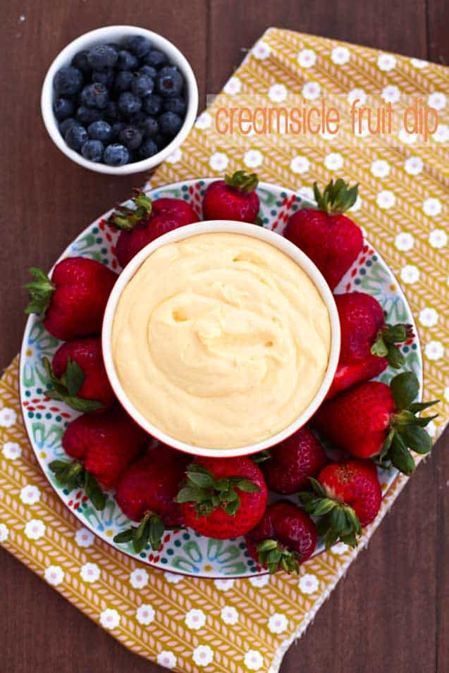 creamsicle fruit dip
