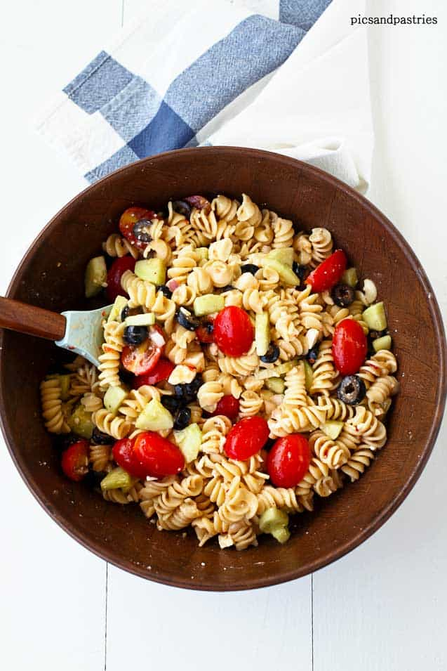 pasta salad with feta cheese