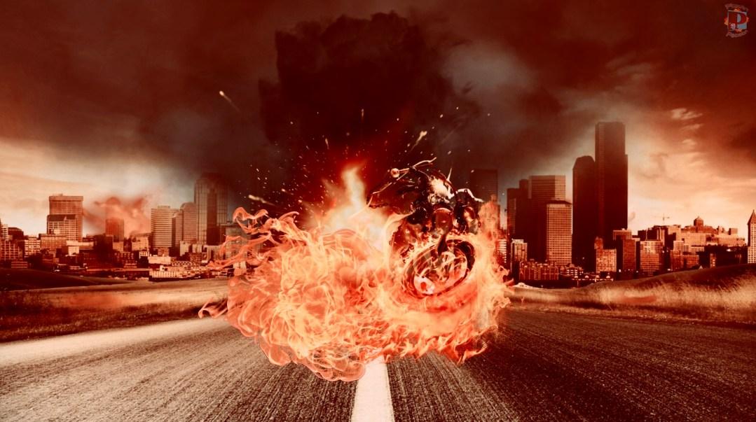 Fire Rider - Wallpaper #MadeWithPicsArt