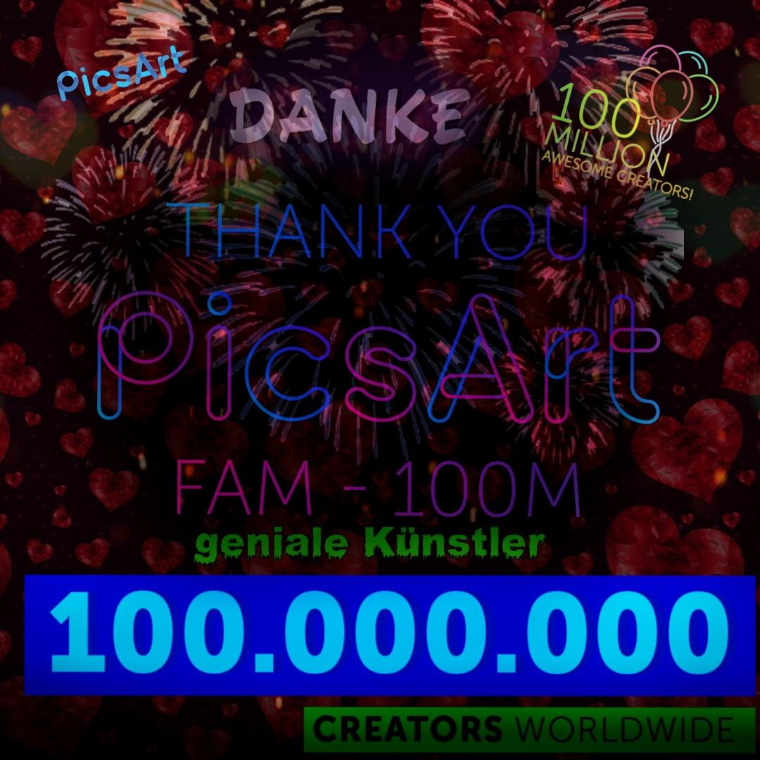 100 Millionen PicsArt Creators #MadeWithPicsArt