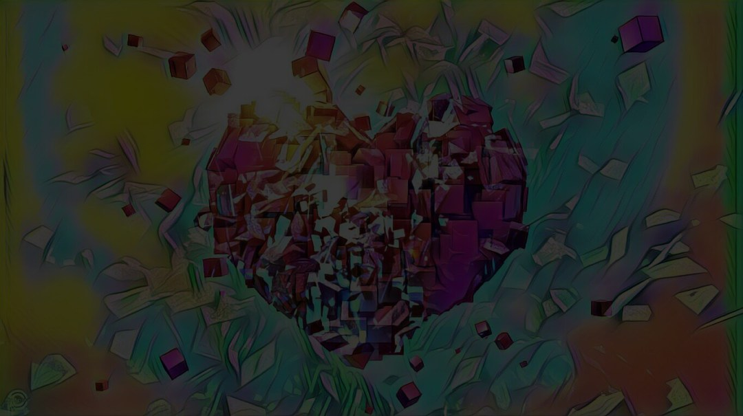 Background - Heart Explosion - #MadeWithPicsArt
