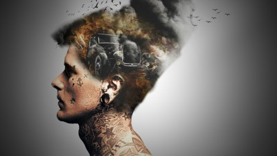 DoubleExposure Fire and Smoke Effect #MadeWithPicsArt By #PAPCreation