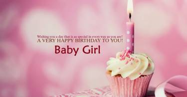 Baby Girl Birthday Wishes