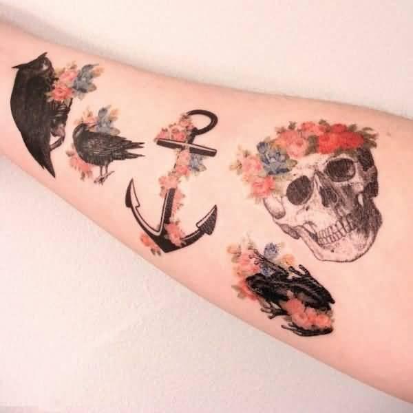 Anchor Sleeve Tattoo