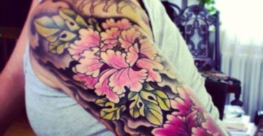 peony tattoo On Arm