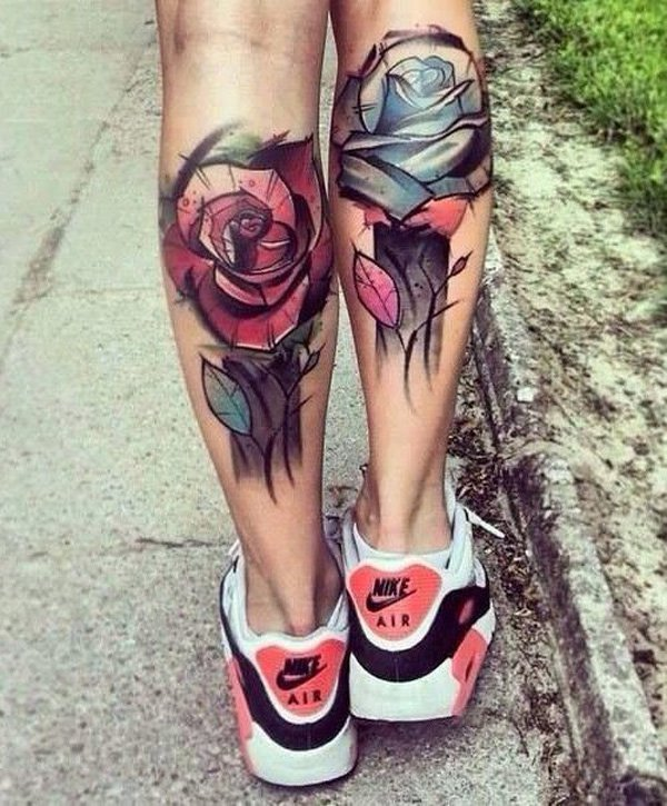 Superb Calf Tattoo