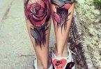 Superb Calf Tattoo