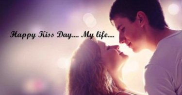 Happy Kiss Day My Life BEautiful Couple Image