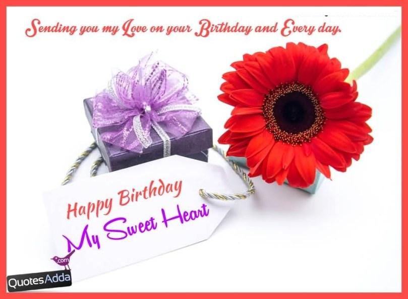 Sweetheart Birthday Wishes