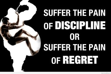 Fitness Quotes suffer the pain of discipline or suffer the pain or regret