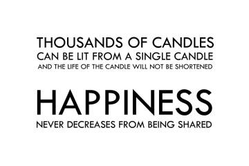 Life Sayings Thousands of candles can be lit from a single candle