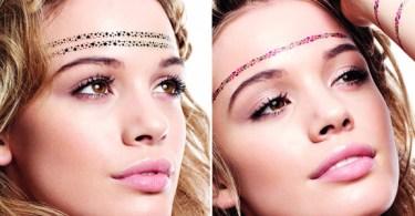 Motivational Tiny Stars Tattoo On Forehead For Girls