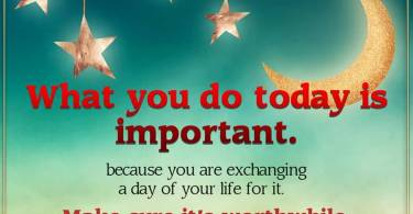 Dating sayings what you do today is important because
