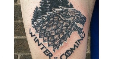 Extremely Game Of Thrones Tattoo On Arm for Guy