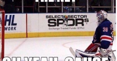 There nothing in the net oh yeah Hockey Meme