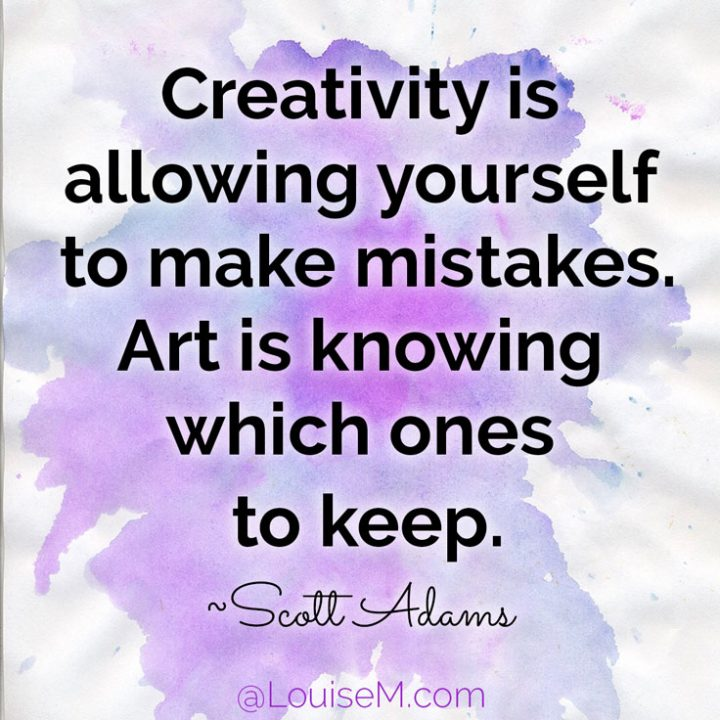 Catchy Creativity Quotes creativity is allwing yourself to make mistakes art is knowing which ones to keep.