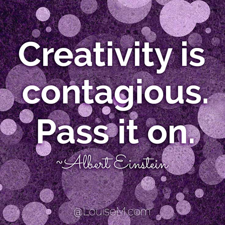 Catchy Creativity Quotes creativity is contagious pass it on.