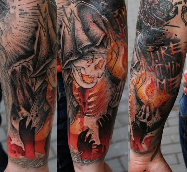 Groovy Fire Tattoos