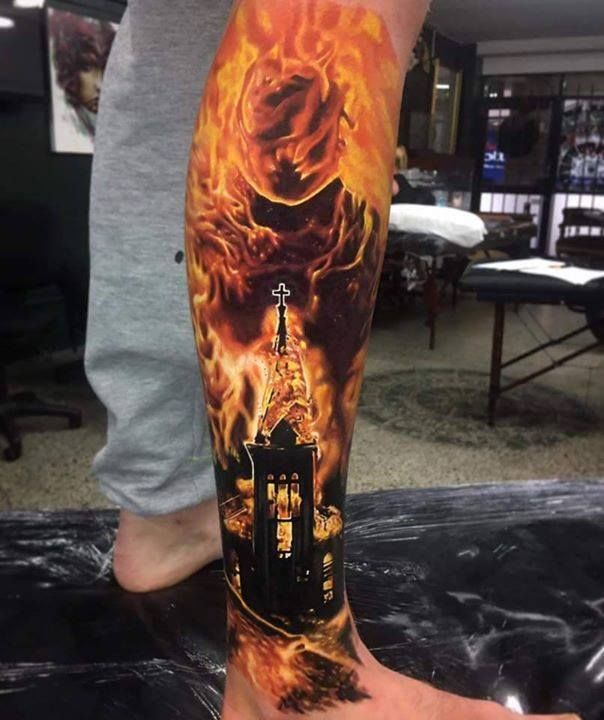 Superb Fire Tattoos