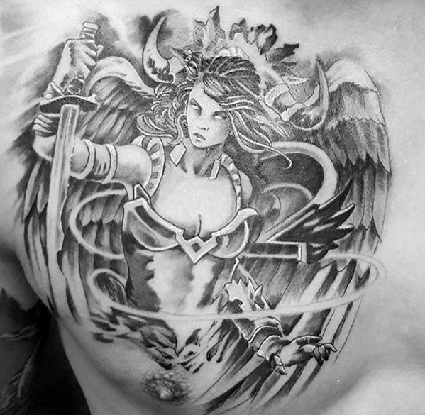 Valkyrie Tattoos Designs & Idea For Men's And Women's 0056