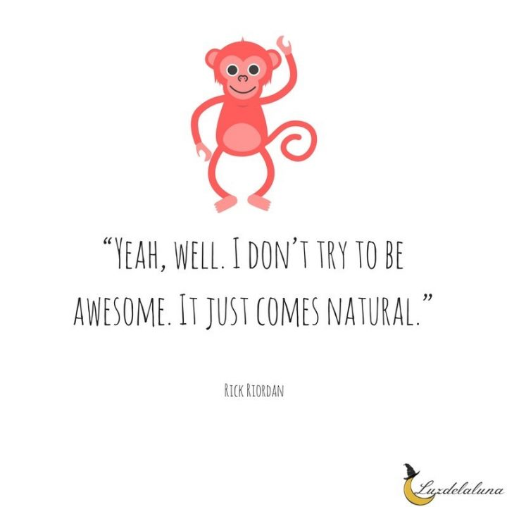 Awesome Quotes yeah, well. i don't try to be awesome