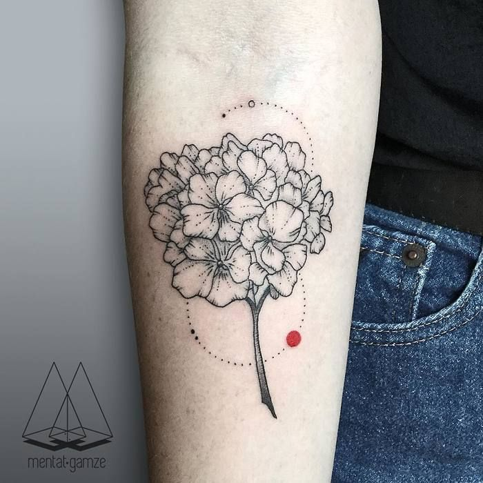 Hydrangea Tattoos And Hydrangea Tattoo For Boys & Girls 01