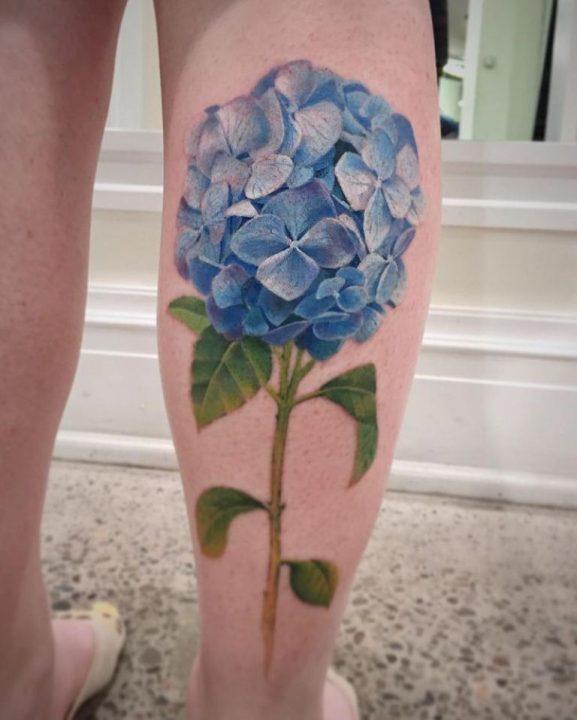 Hydrangea Tattoos And Hydrangea Tattoo For Boys & Girls 02