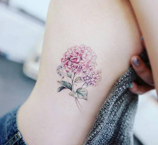Hydrangea Tattoos And Hydrangea Tattoo For Boys & Girls 14