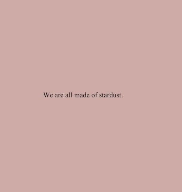 Short Quotes we are all made of stardust