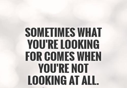 Surprise Quotes sometimes what you're looking for comes
