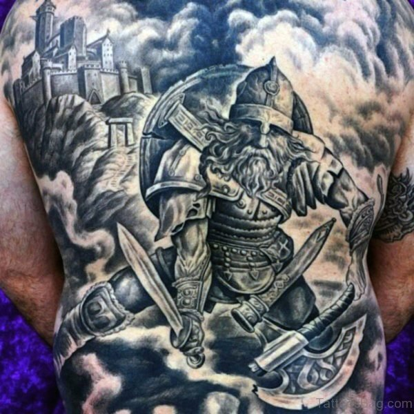Alluring Back Tattoos For Boy's And Girls 10