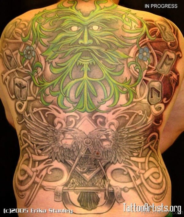 Alluring Back Tattoos For Boy's And Girls 19