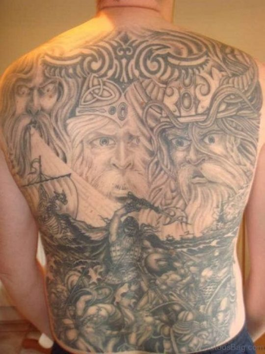 Alluring Back Tattoos For Boy's And Girls 27