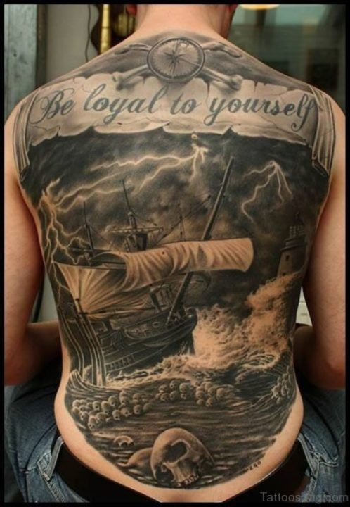 Alluring Back Tattoos For Boy's And Girls 49