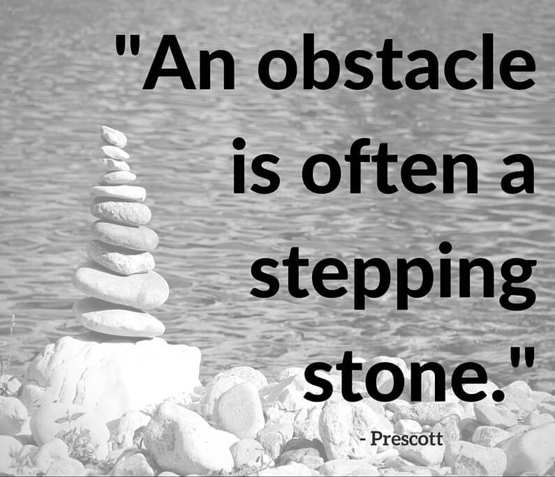 Motivational Success Quotes, Saying and Quotations images an obstacle is often a steeping stone.