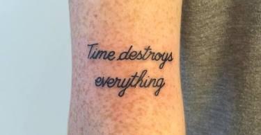 03 Typography Tattoos by Paris Tattoo Club