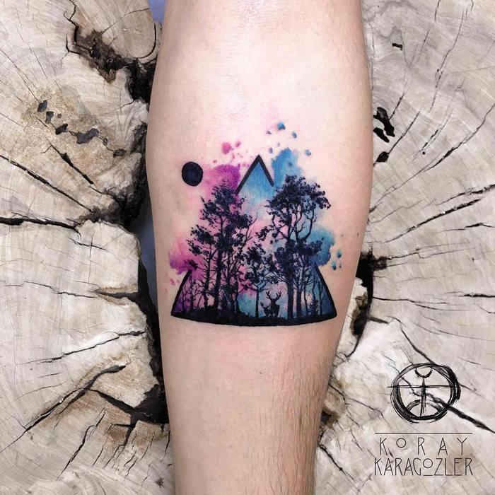 15 Watercolor Tattoos  by Koray Karagozler