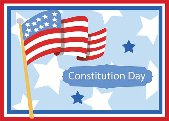 Constitution Day With Flag Of America