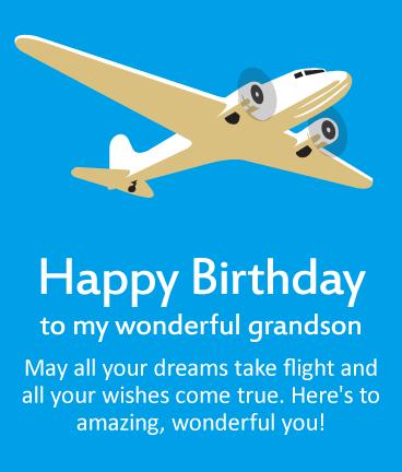 Happy Birthday To My Wonderful Grandson May All