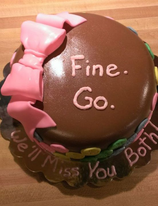 Going Away Cake Quotes 0106