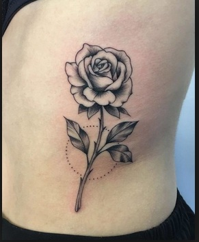 Rose Tattoos A stunning black and gray ink tattoos create a popular lovable effect.