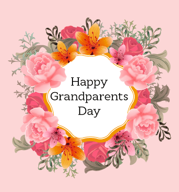 Happy Grandparents Day With Greetings Card