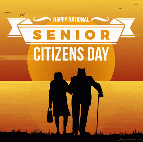 Happy National Senior Citizens Day Card For Old