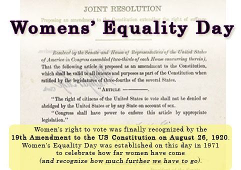 Joint Resolution Womens' Equality Day