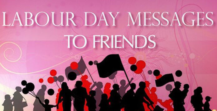 Labour Day Messages To Friends With Flags