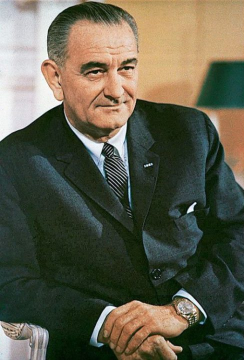 Lyndon Baines johnson day With Blur Background