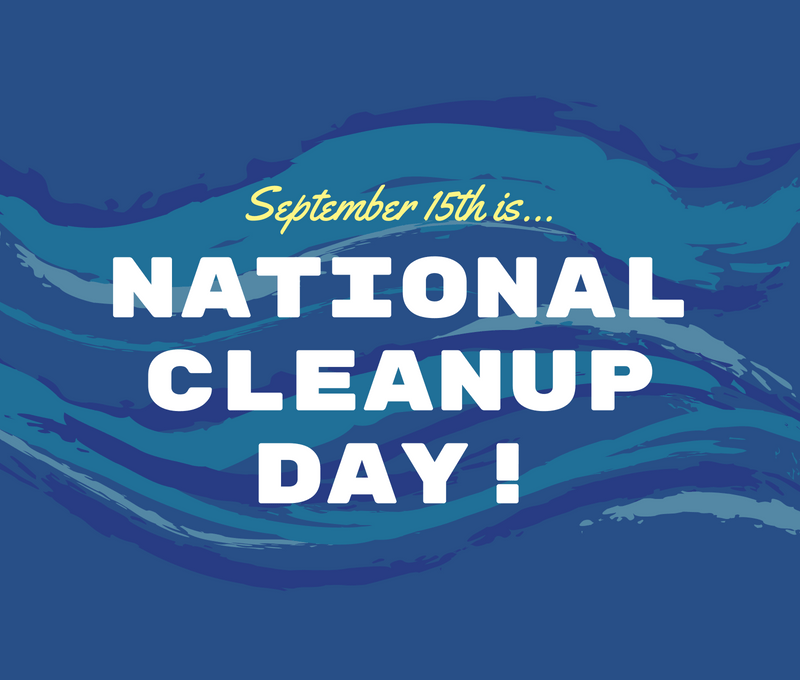 SEptember 15th Is National Cleanup Day