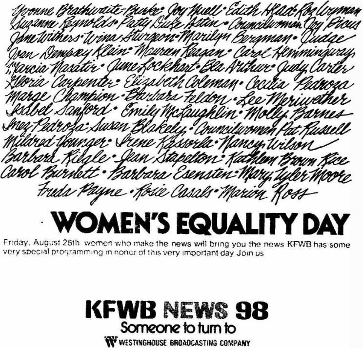 Women's Equality Day Friday august 25th Who